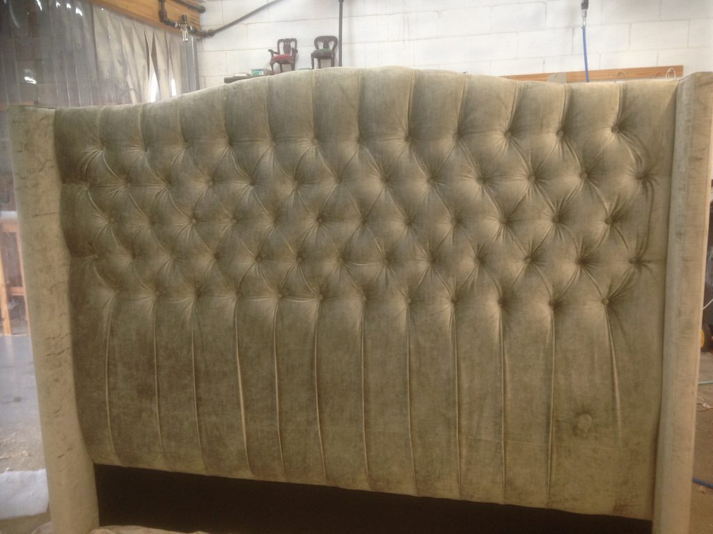 reupholstery of a bed head