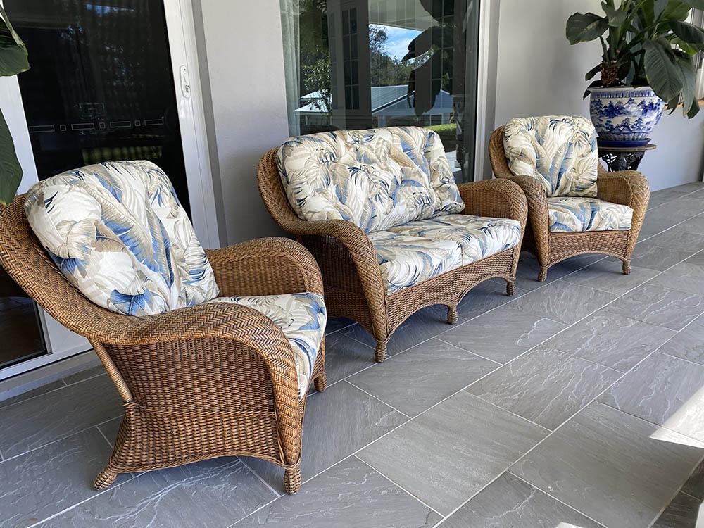 Pete & Noeleen's wicker furniture